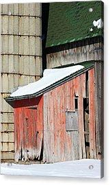 Barn Parts 12 Acrylic Print by Mary Bedy
