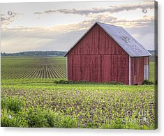 Barn Perspective Acrylic Print by Kent Taylor