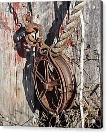 Barn Pulley Acrylic Print