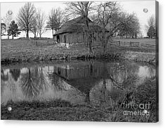 Barn Reflection Acrylic Print