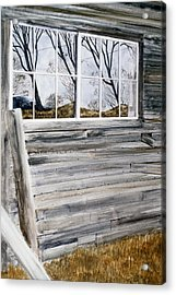Barn Reflection Acrylic Print by Karol Wyckoff