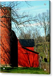 Barn Shadows Acrylic Print by Karen Wiles