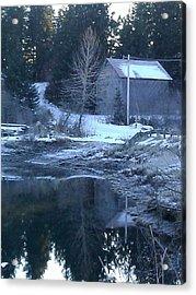 Barn Acrylic Print by Susan Mumma
