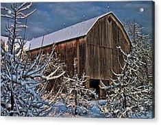 Barn Webster Ny Acrylic Print