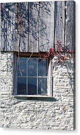 Barn Window Acrylic Print by Sheila Byers
