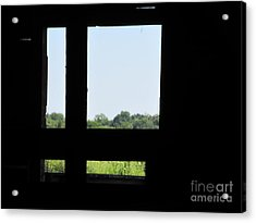 Acrylic Print featuring the photograph Barn Window by Tina M Wenger