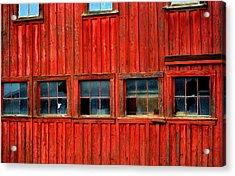 Barn Windows Acrylic Print by Mamie Gunning