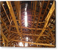 Acrylic Print featuring the photograph Barn With A Skylight by Nick Kirby