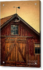 Barn With Weathervane Acrylic Print