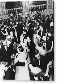 Barnard College Prom Acrylic Print by Underwood Archives