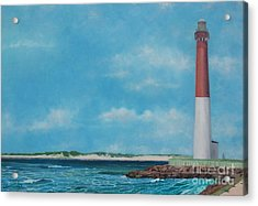 Barnegat Bay Lighthouse Acrylic Print by Barbara Barber