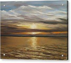 Barnegat Sunset Acrylic Print by Joan Swanson