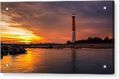 Barnegat Sunset Light Acrylic Print