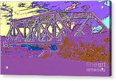 Barnes Ave Erie Canal Bridge Acrylic Print by Peter Gumaer Ogden