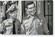 Barney Fife And Andy Taylor Acrylic Print