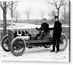 Barney Oldfield And Henry Ford Acrylic Print by Underwood Archives