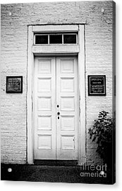 Barney's Doors Acrylic Print by Mark Miller