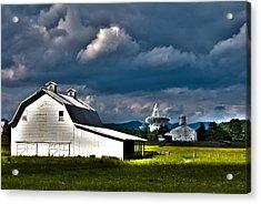 Barns And Radio Telescopes Acrylic Print