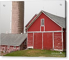 Barns And Silo Acrylic Print by David Bearden