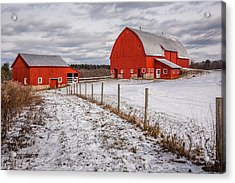 Barns Of New York Acrylic Print by Everet Regal