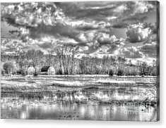 Barns On The Delta 2 Acrylic Print