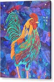Barnyard Dude Acrylic Print by Nancy Jolley