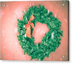 Barnyard Wreath Acrylic Print by Nickaleen Neff