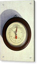 Barometer Acrylic Print by Van D. Bucher