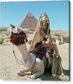 Baronne Van Zuylen On A Camel Acrylic Print by Leombruno-Bodi