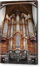 Baroque Grand Organ In Oude Kerk In Amsterdam Acrylic Print by Artur Bogacki