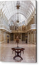Baroque Library  Acrylic Print by Jose Elias - Sofia Pereira