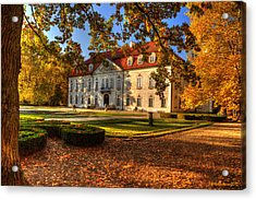 Baroque Palace In Nieborow In Poland During Golden Autumn Acrylic Print
