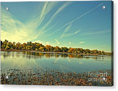 Barr Lake And Classic Cloud Acrylic Print by Reza Mahlouji