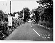 Barre Garroo On The Isle Of Man Tt Course Iom Acrylic Print by Joe Fox