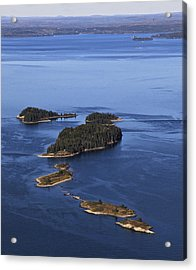 Barred Islands, Penobscot Bay Acrylic Print by Dave Cleaveland