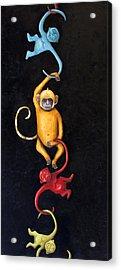 Barrel Of Monkeys Acrylic Print by Leah Saulnier The Painting Maniac