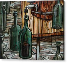 Barrel To Bottle Acrylic Print by Sean Hagan