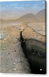 Barren Future Earth Acrylic Print by Mark Garlick/science Photo Library