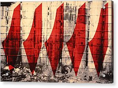 Barriers To Statehood Acrylic Print by Laila Shawa