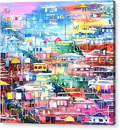 Barrio El Cerro De Yauco Acrylic Print by Zaira Dzhaubaeva
