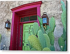 Barrio Red And Green Acrylic Print
