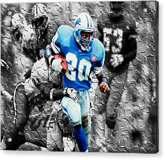Barry Sanders Breaking Out Acrylic Print