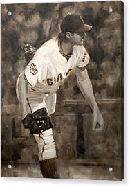 Barry Zito - Redemption Acrylic Print by Darren Kerr