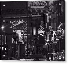 Bars On Broadway Nashville Acrylic Print by Dan Sproul