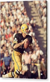 Bart Starr Buying Time Acrylic Print by Retro Images Archive