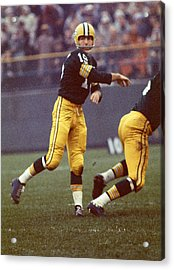Bart Starr Follows Through Acrylic Print by Retro Images Archive