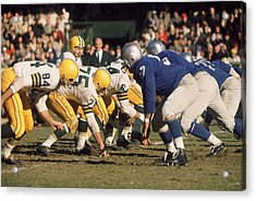 Bart Starr Lines Them Up Acrylic Print by Retro Images Archive