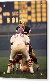 Bart Starr Looks Around Acrylic Print by Retro Images Archive