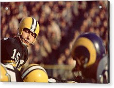 Bart Starr Looks  Acrylic Print by Retro Images Archive