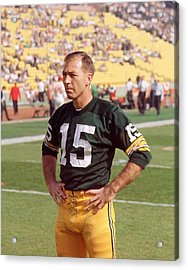 Bart Starr Pregame Acrylic Print by Retro Images Archive